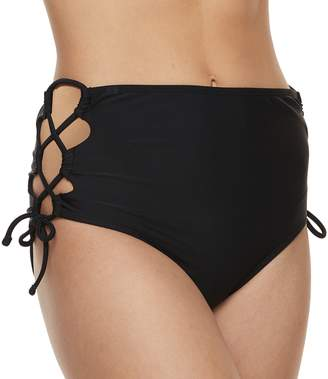 So Mix and Match Strappy High-Waisted Bikini Bottoms
