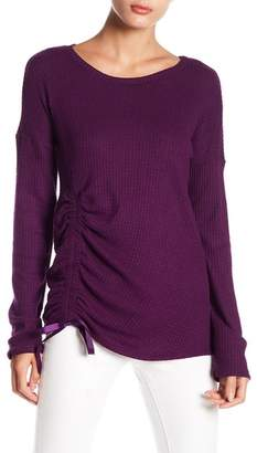 Abound Ruched Front Waffle Knit Shirt