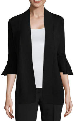 CYRUS Cyrus 3/4 Bell Sleeve Open Front Cardigan