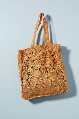 Antik Batik Holea Raffia Tote Bag