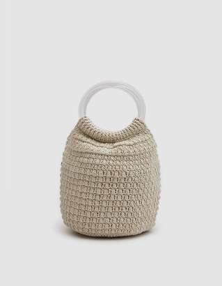 Rachel Comey Praia Hand Crochet Bucket in Ivory
