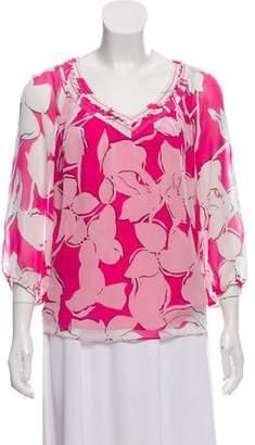 Diane von Furstenberg Davi Silk Printed Blouse