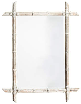 Rejuvenation French Beveled Mirror w/ Silver Leaf Faux Bamboo Frame