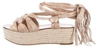 Sigerson Morrison Platform Espadrille Sandals