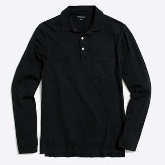 J.Crew Long-sleeve garment-dyed polo shirt