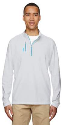 adidas Men's puremotion Mixed Media Quarter-Zip - CL ONIX/ BR CYAN - 3XL A195