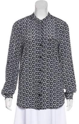Diane von Furstenberg High-Low Patterned Blouse