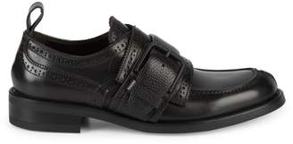 Canali Moc Toe Leather Loafers