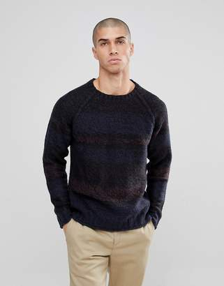 ONLY & SONS Knitted Sweater With Mixed Stripe Detail