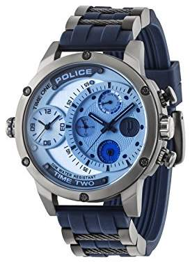 Police Men's Analogue Quartz Watch with Rubber Strap – 14536JSU/04P