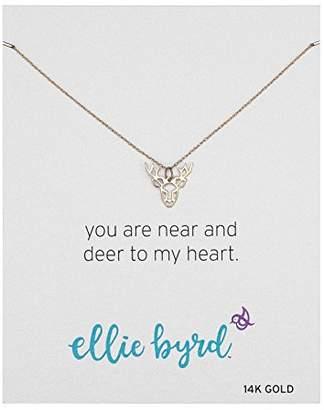 ellie byrd 14k Gold Deer Pendant Necklace