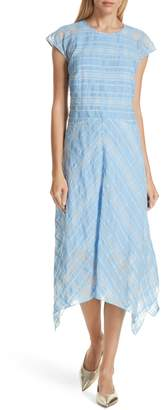 Lewit Sheer Check Midi Dress