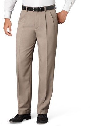 Van Heusen Big & Tall Classic-Fit No-Iron Pleated Dress Pants