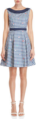 Yumi Travel Gingham Fit & Flare Dress