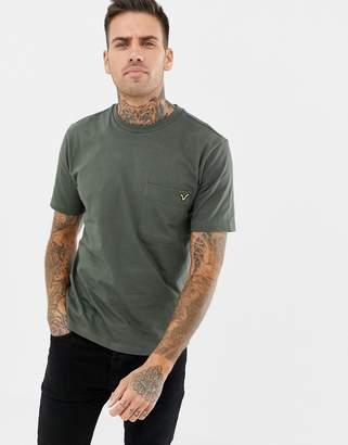 Voi Jeans Pocket T-Shirt In Khaki