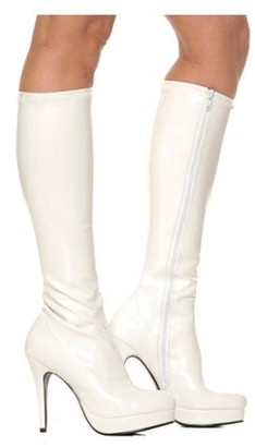 Classic/Everyday White Knee High Adult Boots
