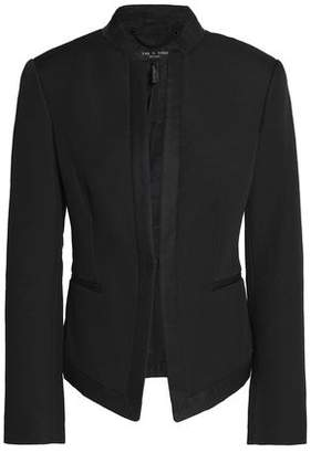 Rag & Bone Waverly Grosgrain-Trimmed Cotton-Blend Piqué Jacket