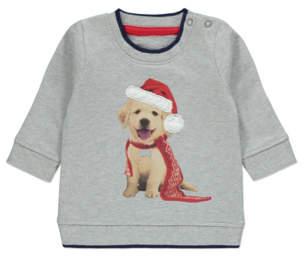 George Labrador Puppy Grey Christmas Sweatshirt