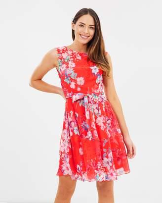 Wallis Pretty Neon Fit & Flare Dress