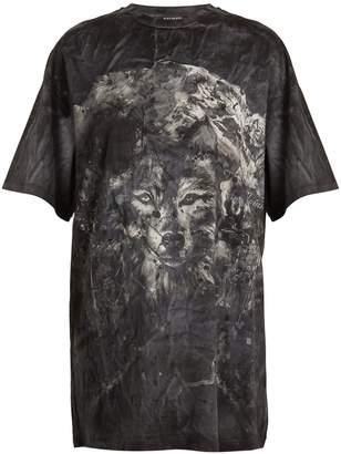 Balmain Wolf-print cotton T-shirt