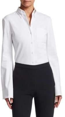 Textured Bell-Sleeve Shirt
