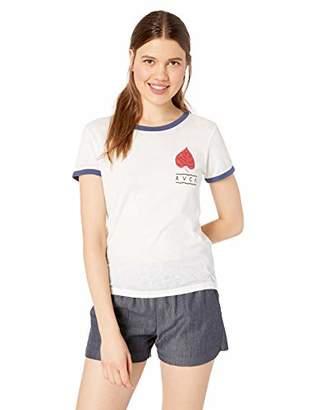 RVCA Junior's Foliage Short Sleeve Burnout Crew Neck T-Shirt