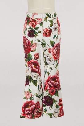 Dolce & Gabbana Pionies print trousers
