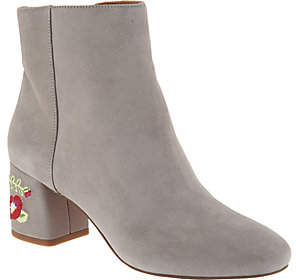 Franco Sarto Suede or Brocade Ankle Boots -Jubilee