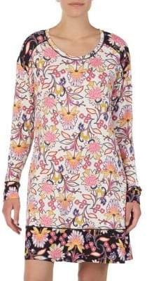 Kensie Floral Long-Sleeve Sleepshirt