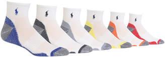 Polo Ralph Lauren Men's 6-Pk. Athletic Quarter Socks