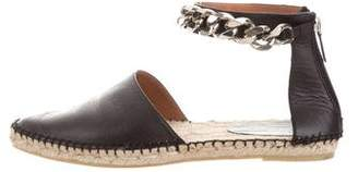 Givenchy Chain-Link Leather Espadrilles
