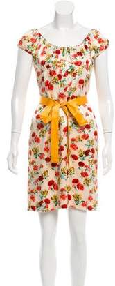 Derek Lam Floral Print Silk Dress