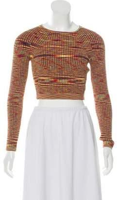 Adam Selman Long Sleeve Crop Sweater