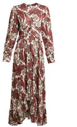 Isabel Marant Jorja Paisley Print Silk Blend Dress - Womens - Red Multi