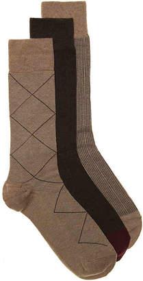 Cole Haan Diamond Grid Dress Socks - 3 Pack - Men's