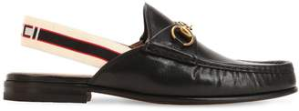 Gucci Open Roos Leather Loafers W/ Elastic