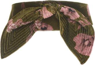 Johanna Ortiz El Cigala Floral Velvet Belt