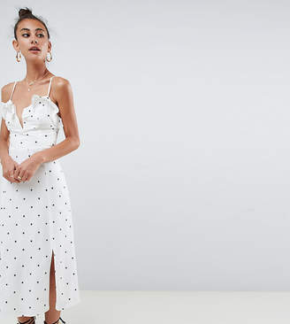 Asos Tall DESIGN Tall star print v front midi sundress