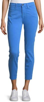 Frame Le High Skinny Jeans w/ Raw-Edge Hem