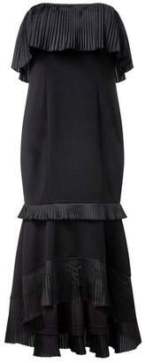 Aidan Mattox Strapless High Low Dress
