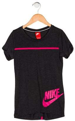 Nike Girls' Printed Short Sleeve Top
