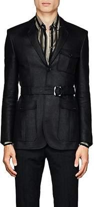 Saint Laurent Men's Waxed Tweed Safari Jacket - Black