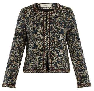 Etoile Isabel Marant Hustin Floral Print Quilted Jacket - Womens - Black Print