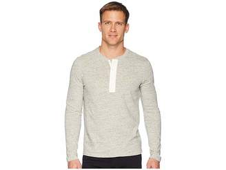 Vince Side Slit Long Sleeve Henley Men's Clothing