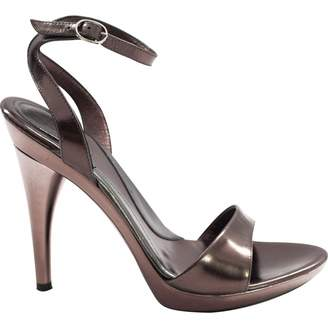 Azzaro Metallic Patent leather Heels