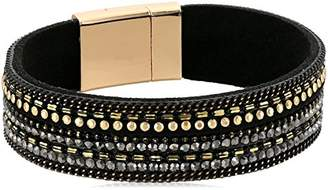 Panacea Leather Crystal Bracelet
