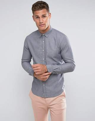 Tom Tailor Slim Fit Denim Shirt In Light Blue