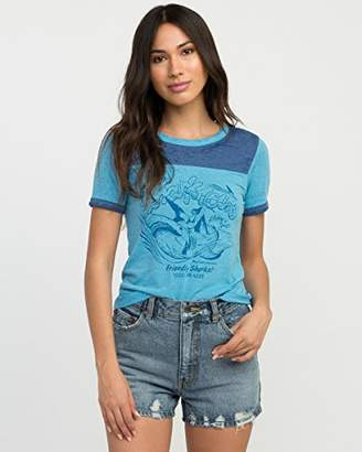 RVCA Junior's Shark Tours Short Sleeve T-Shirt
