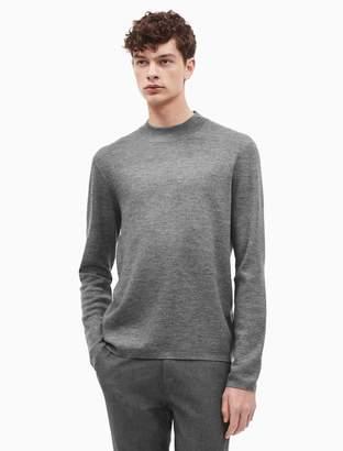 Calvin Klein merino wool blend mock neck sweater