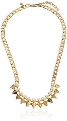 Rebecca Minkoff Plated Faux Pearl Spike Necklace